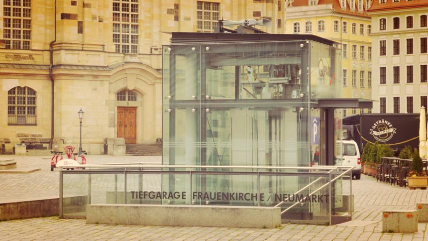 La 204e sirène électronique du système d'alerte de la ville de Dresde