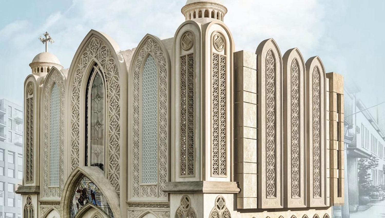 La cloche d'église Urban M sonne dans le plus grand quartier du Caire, en Égypte